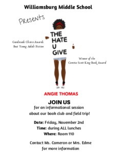 WMS Book Club -- The Hate U Give