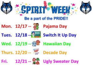 Spirit Week - December CORRECTION