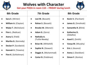 NEW -- Wolves with Character -- January