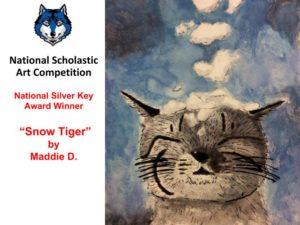 """""""Snow Tiger"""" -- National Silver Key Award Winner"""