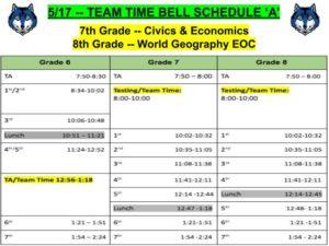 SOL Schedule -- 5/17/19