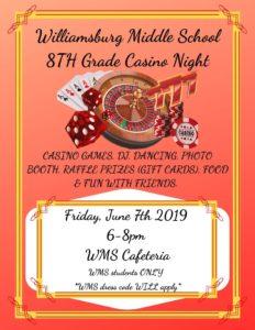8th grade Casino Night, 2019