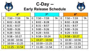 C-Day schedule -- 10/16/2019