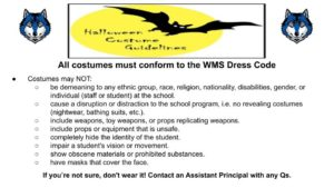 Halloween Costume Guidelines, 2019