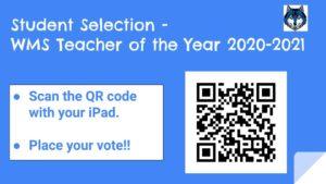 2020 Teacher of the Year -- student QR code