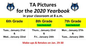 REVISED TA picture schedule