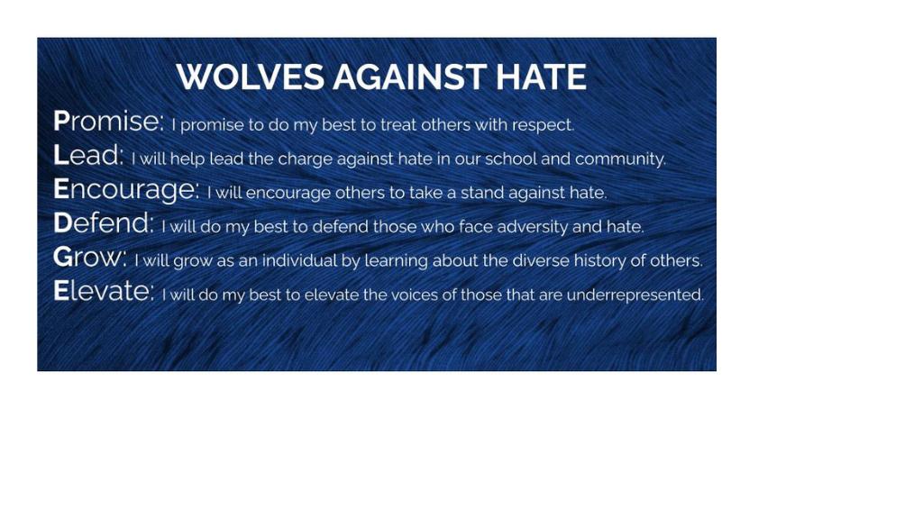 P.L.E.D.G.E. – Wolves Against Hate