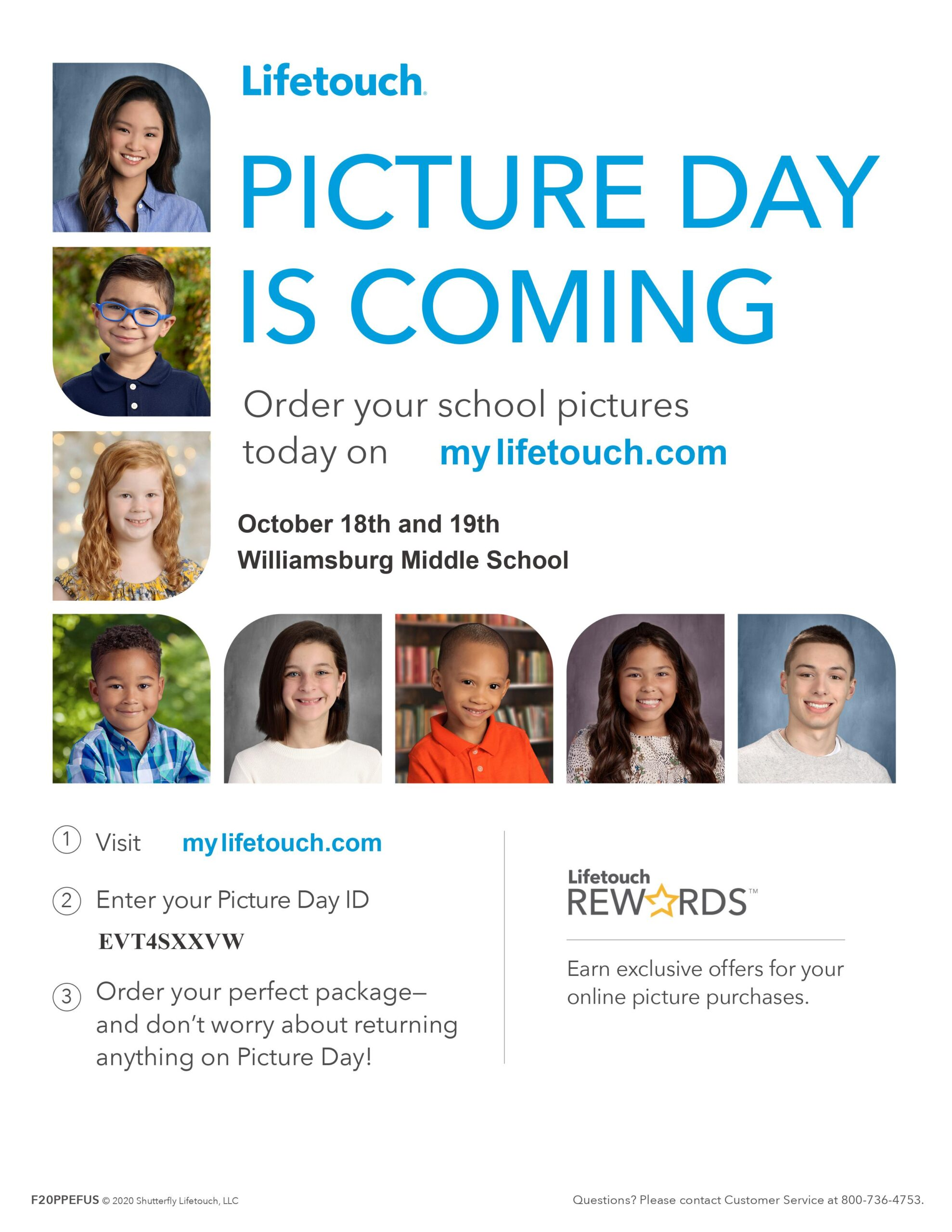 Lifetouch Picture Day is Coming October 18 and 19