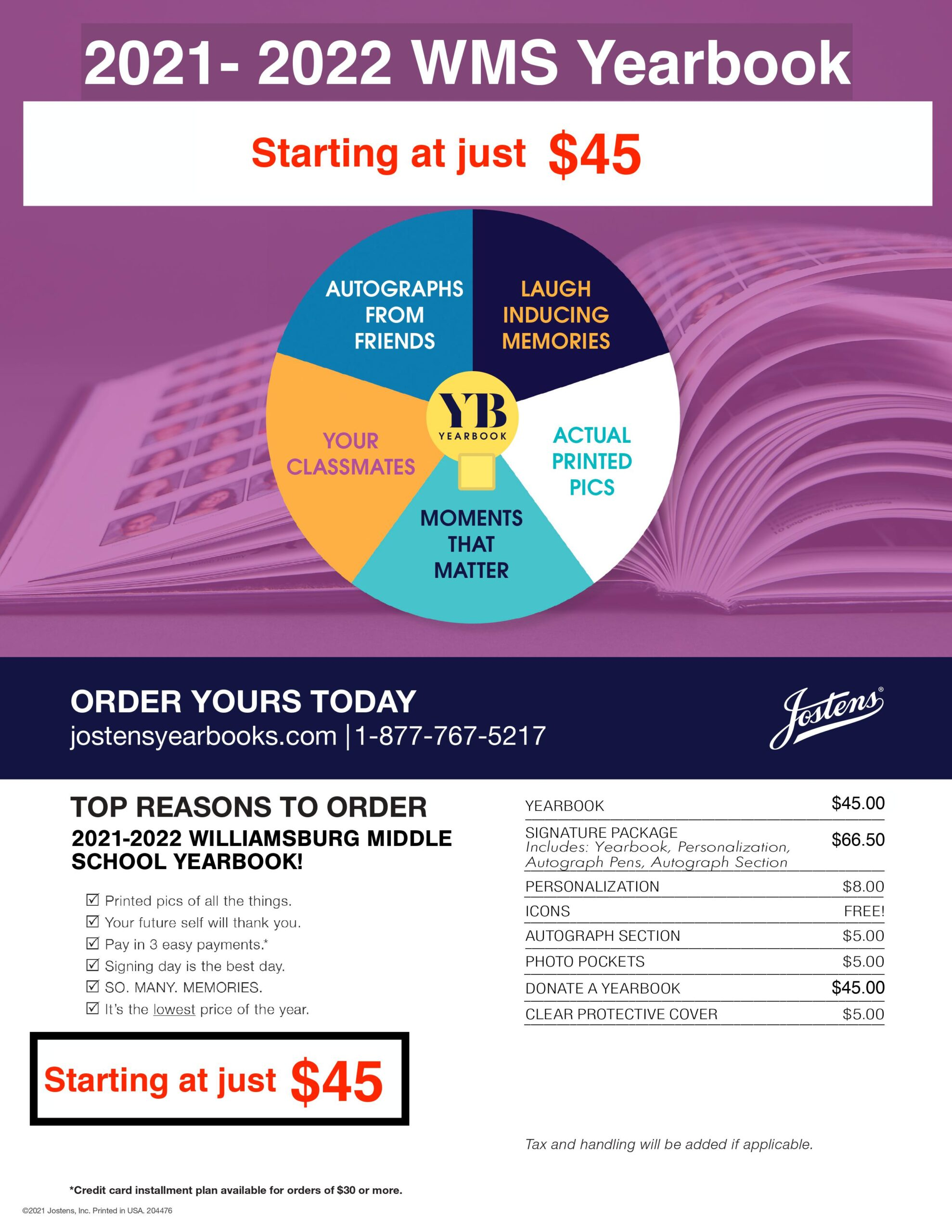 Yearbook Starting at just $45