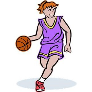 Girls Basketball Player
